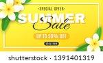 summer sale. cover for web....   Shutterstock .eps vector #1391401319