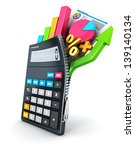 3d open calculator  isolated... | Shutterstock . vector #139140134