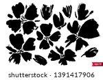 vector set of ink drawing... | Shutterstock .eps vector #1391417906