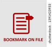 filled bookmark on file icon.... | Shutterstock .eps vector #1391423933