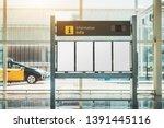 an information or an arrival... | Shutterstock . vector #1391445116