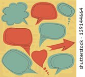 vintage speech balloons | Shutterstock .eps vector #139144664