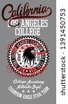california college graphic... | Shutterstock .eps vector #1391450753