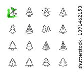 christmas tree thin line icon... | Shutterstock .eps vector #1391462153