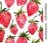 sweet red watercolor...   Shutterstock . vector #1391470853
