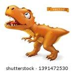 tyrannosaurus. t. rex dinosaur... | Shutterstock .eps vector #1391472530