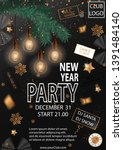 new year 2020 party invitation... | Shutterstock .eps vector #1391484140