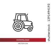 tractor vector icon in modern...   Shutterstock .eps vector #1391494193