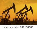oil pumps. oil industry...   Shutterstock . vector #139150580