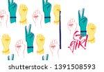 go girl illustration with... | Shutterstock .eps vector #1391508593