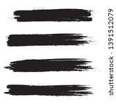 brush stroke set isolated on...   Shutterstock .eps vector #1391512079