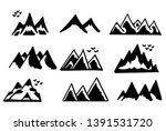 mountains silhouettes on the... | Shutterstock .eps vector #1391531720