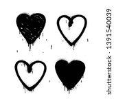 spray paint heart isolated on... | Shutterstock . vector #1391540039