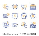 bitcoin system  payment message ... | Shutterstock .eps vector #1391543840