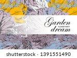 vector beautiful greeting card...   Shutterstock .eps vector #1391551490