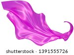 wavy fabric on a white... | Shutterstock . vector #1391555726