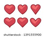 heart icons  concept of love | Shutterstock .eps vector #1391555900