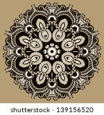 circle lace ornament  round... | Shutterstock .eps vector #139156520