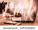 stock market or forex trading... | Shutterstock . vector #1391569850