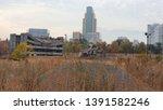 destroyed buildings  ruins of... | Shutterstock . vector #1391582246