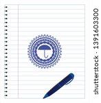 umbrella icon with pen strokes. ... | Shutterstock .eps vector #1391603300