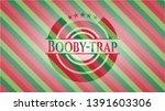 booby trap christmas emblem.... | Shutterstock .eps vector #1391603306