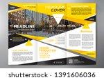 business brochure. flyer design.... | Shutterstock .eps vector #1391606036