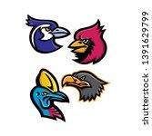 mascot icon illustration set of ... | Shutterstock .eps vector #1391629799