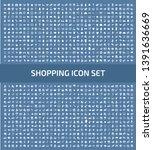 shopping vector icon set design | Shutterstock .eps vector #1391636669