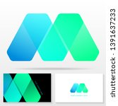letter m logo design and... | Shutterstock .eps vector #1391637233