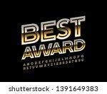 vector glossy emblem best award ... | Shutterstock .eps vector #1391649383
