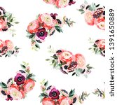 seamless summer pattern with... | Shutterstock . vector #1391650889