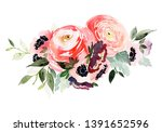 watercolor composition with a... | Shutterstock . vector #1391652596