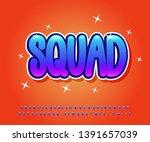 cartoom font effect with fun... | Shutterstock .eps vector #1391657039