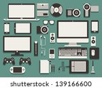 computer and technology vector... | Shutterstock .eps vector #139166600