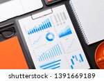 office workplace table with...   Shutterstock . vector #1391669189