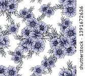 flower print. elegance seamless ... | Shutterstock . vector #1391672636