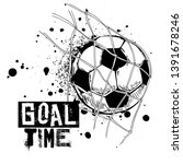 black and white football print... | Shutterstock .eps vector #1391678246