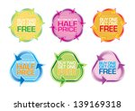 buy 1 get 1 free triangles and... | Shutterstock .eps vector #139169318