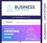 beautiful business concept... | Shutterstock .eps vector #1391707490