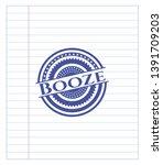 booze pen draw. blue ink.... | Shutterstock .eps vector #1391709203