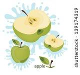 apple splash vector illustration | Shutterstock .eps vector #139174319