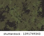 army green camouflage pattern... | Shutterstock .eps vector #1391749343