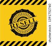 resell black grunge emblem...   Shutterstock .eps vector #1391752760