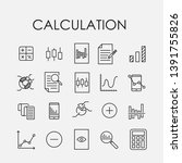 set of 20 calculation icons....