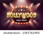 bollywood indian cinema. movie...   Shutterstock .eps vector #1391761493
