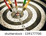 dart closeup as a background | Shutterstock . vector #139177700