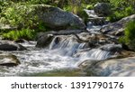 few consecutive cascades... | Shutterstock . vector #1391790176