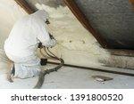 spray polyurethane foam for... | Shutterstock . vector #1391800520