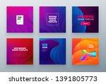 set of social sale banner... | Shutterstock .eps vector #1391805773
